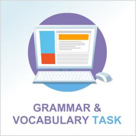 Test 1 English grammar & vocabulary task
