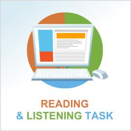 Test 2 English reading and listening tasks