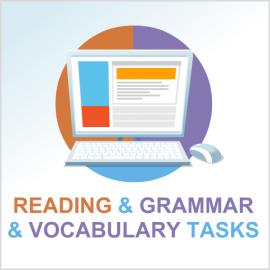 Test 2 English reading and grammar & vocabulary tasks